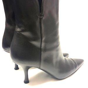 Stuart Weitzman Shoes - Stuart Weitzman Black Leather Cola Calf Boots
